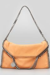 Stella McCartney Foldover Falabella Shoulder Tote Bag Orang - Lyst