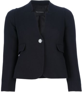 Tara Jarmon Button Front Coat - Lyst