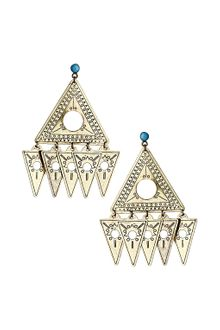 Topshop Aztec Triangle Drop Earrings - Lyst