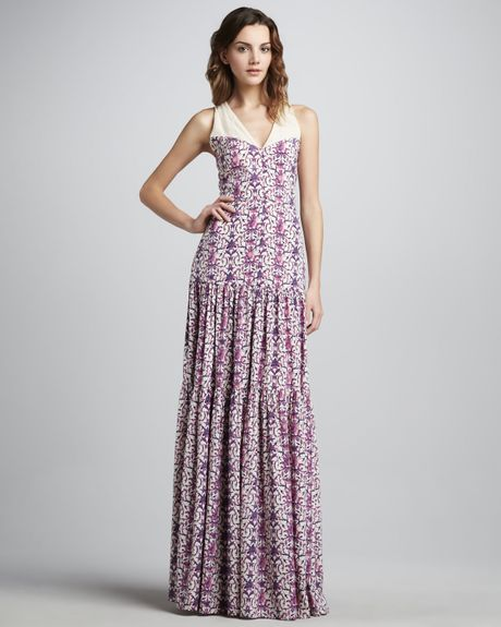 Tory Burch Logan Tiered Printed Maxi Dress in Multicolor (poundcake lorely) - Lyst
