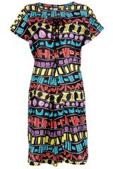 Yves Saint Laurent Vintage Printed Dress - Lyst