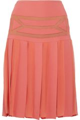 Alberta Ferretti Pleated Skirt - Lyst