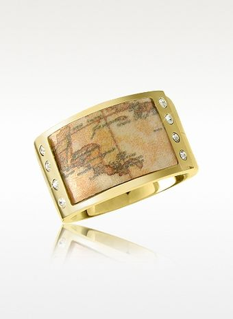 Alviero Martini 1a Classe 1a Prima Classe Goldplated Geo Band Ring - Lyst