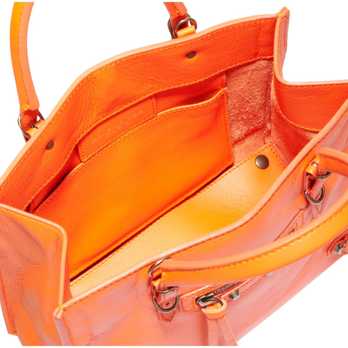 3f6edaa7246c Balenciaga Papier Mini A4 Magnet in Orange - Lyst
