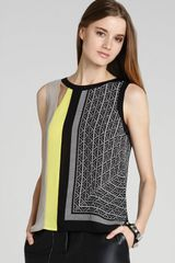 BCBGMAXAZRIA Color Block Top - Lyst