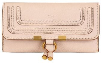 Chloé Marcie Textured Leather Long Wallet - Lyst