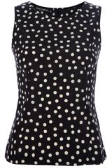 Dolce & Gabbana Sleeveless Polka Dot Top - Lyst