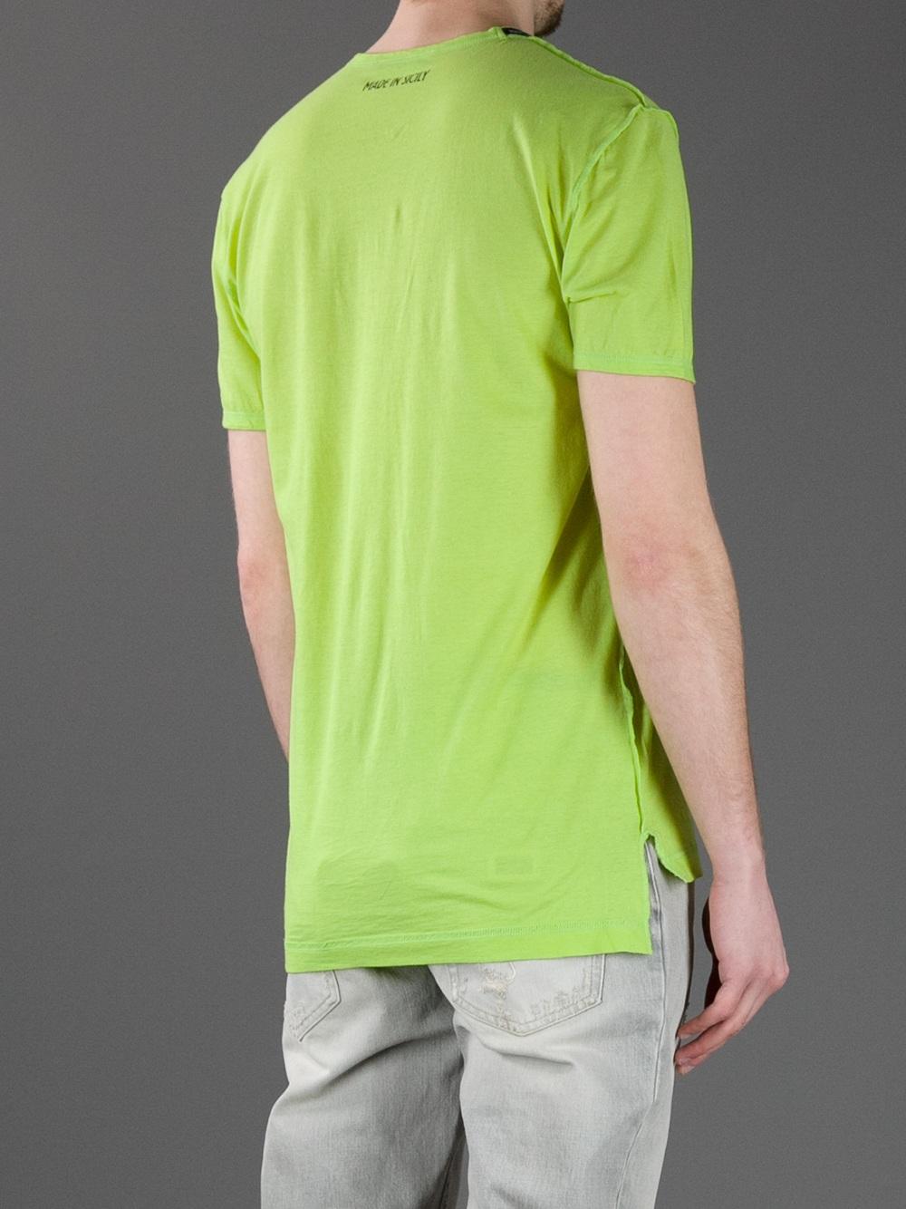 Dolce gabbana printed t shirt in green for men lyst for Dolce and gabbana printed t shirts