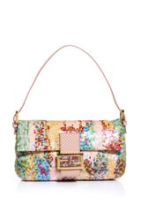 Fendi Sequinned and Checkered Leather Baguette Bag - Lyst