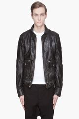 Golden Goose Deluxe Brand Black Leather Hopi Studded Biker Jacket - Lyst