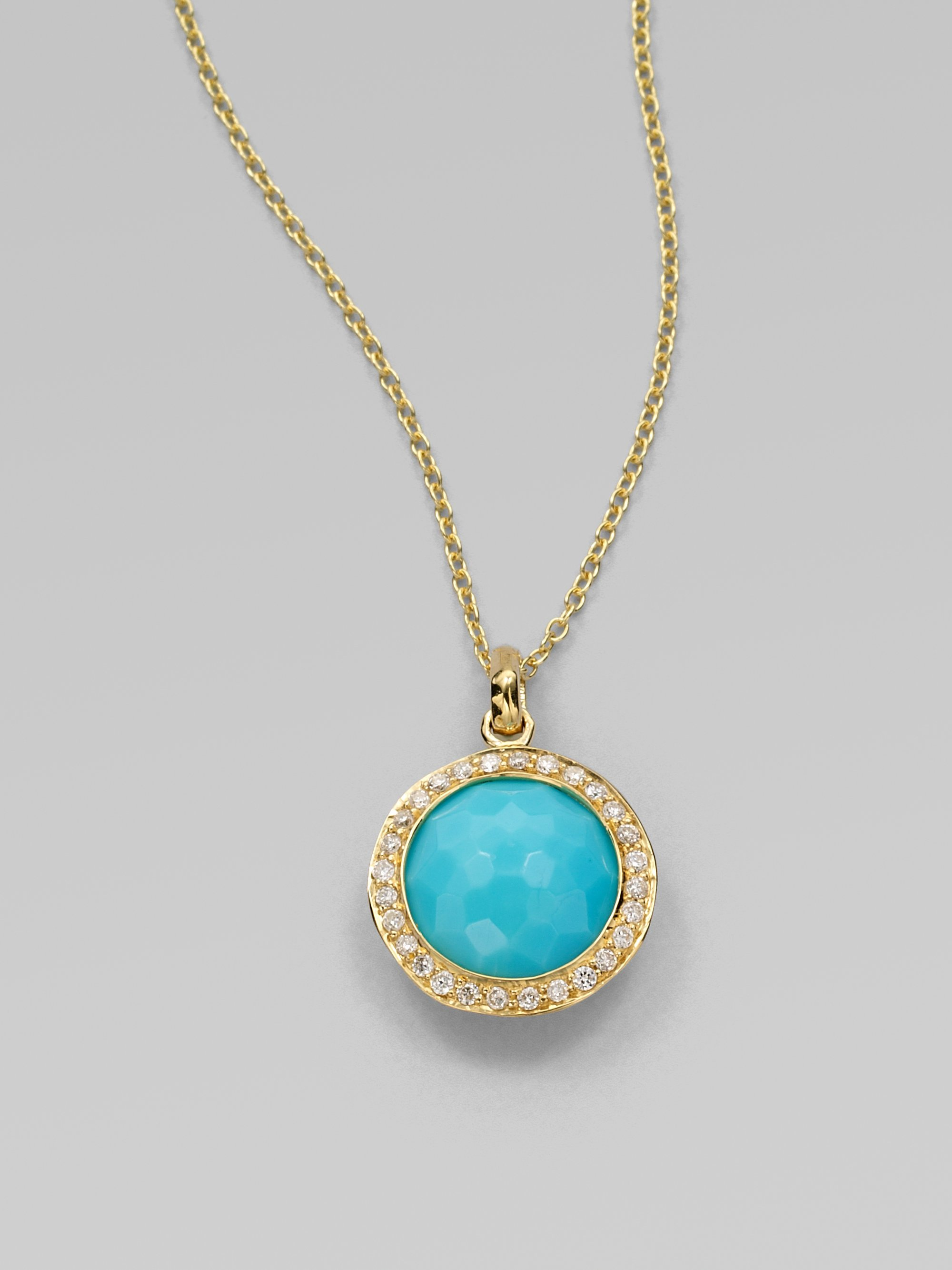 Lyst ippolita lollipop turquoise diamond 18k yellow gold mini gallery aloadofball Gallery