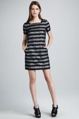 Marc By Marc Jacobs Lucienne Lace Stripe Dress - Lyst