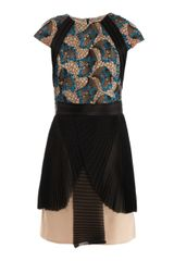 Marios Schwab Embroidered and Pleated Dress - Lyst