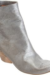 Marsell Distressed Metallic Ankle Boot - Lyst