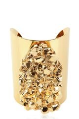 Michael by Michael Kors Gold Plated Rock Cuff