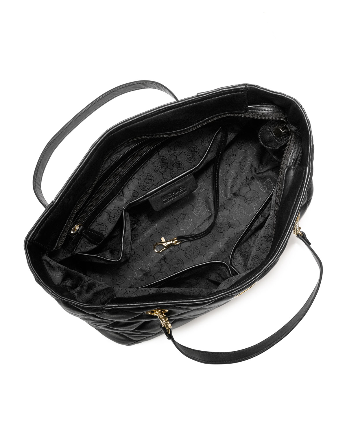 Lyst - Michael kors Large Fulton Quilted Tote in Black : michael kors fulton quilted tote - Adamdwight.com