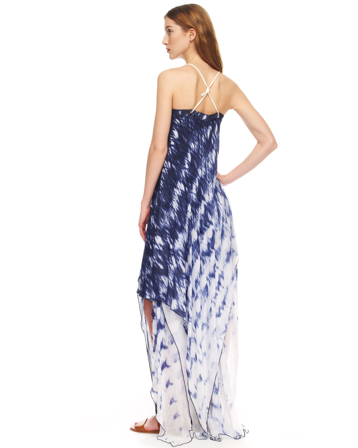 031602c4fda Lyst - Michael Kors Printed Layered Maxi Dress in White