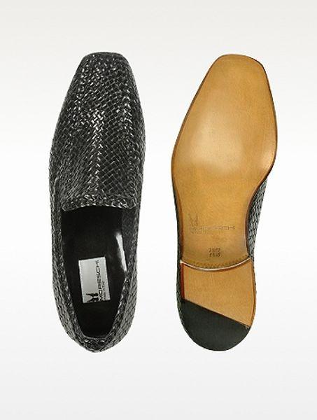 Moreschi Leather Loafer Shoes In Black For Men Lyst