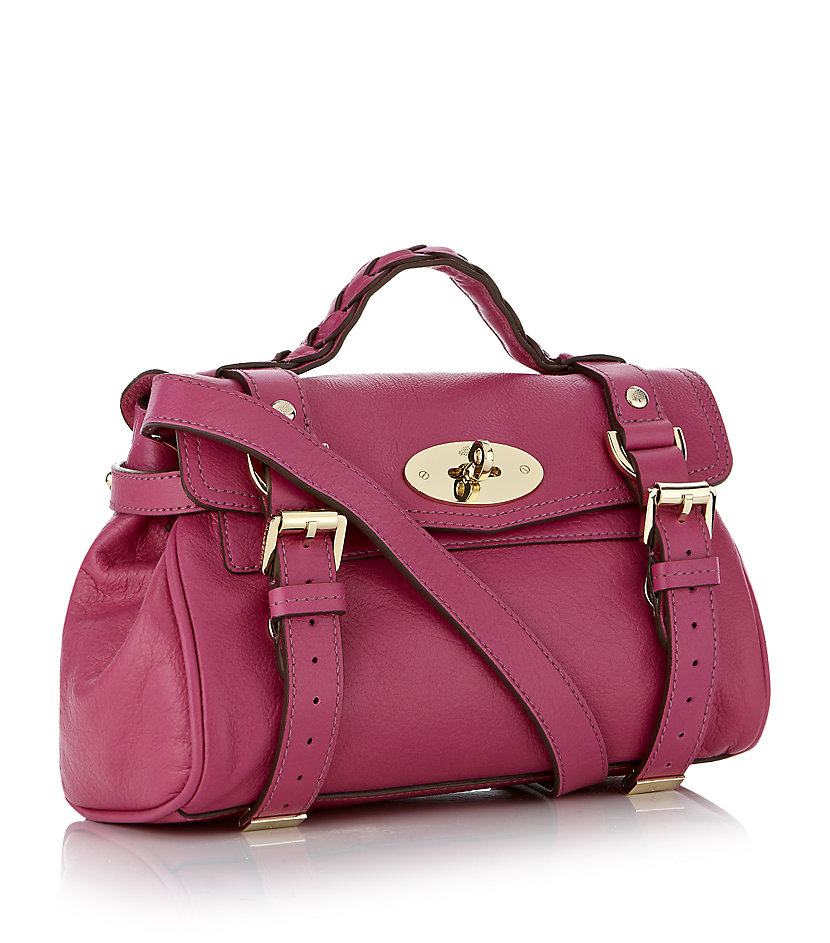 ... purse organizer with singular style for mulberry alexa models edb20  4b106 closeout mulberry mini alexa crossbody bag in pink lyst d8f3e 26e08  ... ba010b254c96b