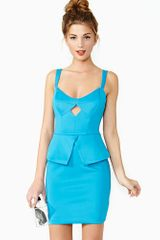 Nasty Gal Diamond Girl Peplum Dress - Lyst