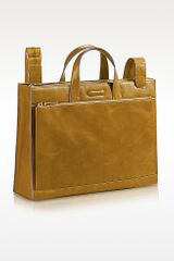 Piquadro Blue Square Leather Business Bag - Lyst