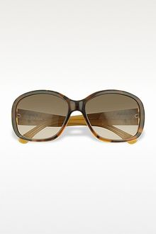 Prada Signature Temple Plastic Sunglasses - Lyst