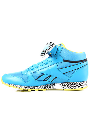 aedea3bd089 Lyst - Reebok The Keith Haring Classic Leather Mid Strap Lux Sneaker ...