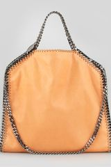 Stella McCartney Foldover Falabella Shoulder Tote Bag Orange - Lyst