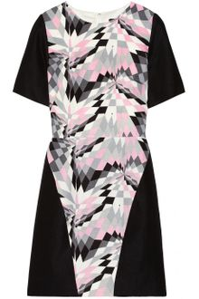 Tibi Printed Silk and Linen-Blend Dress - Lyst