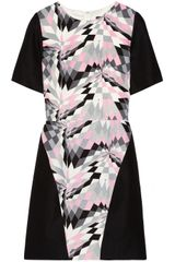 Tibi Printed Silk and Linenblend Dress - Lyst