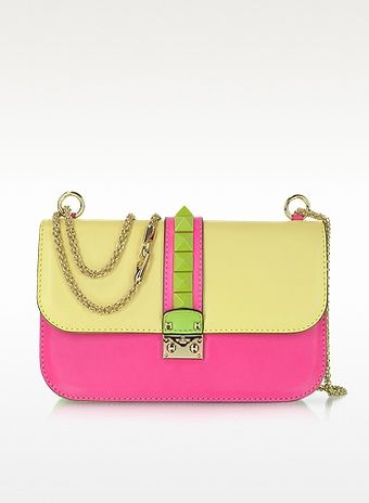 Valentino Pop Rockstud Multicolor Calfskin Shoulder Bag - Lyst