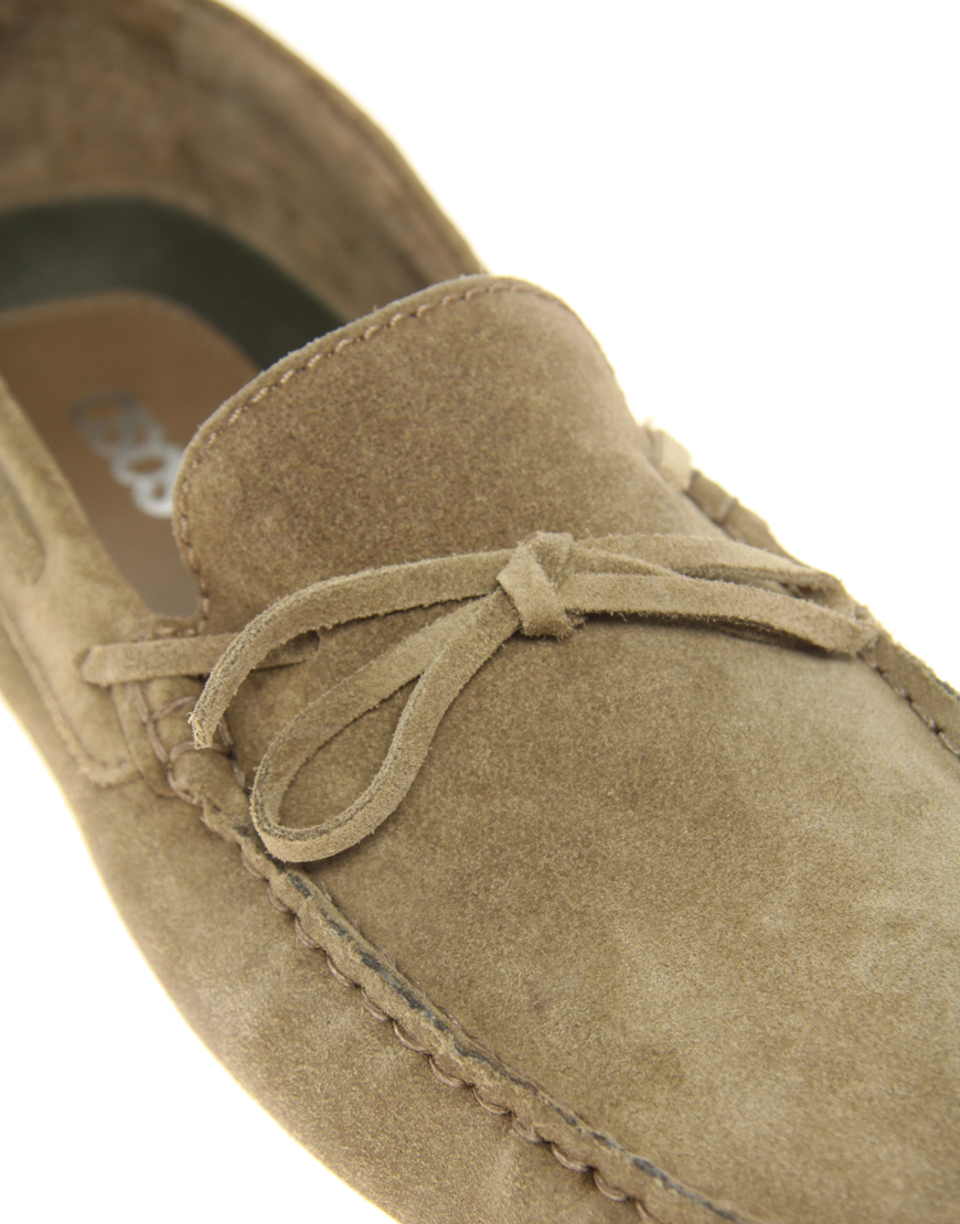 6c9d874b78656 Lyst - ASOS Asos Driving Shoes in Suede in Natural for Men
