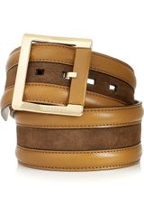 Burberry Prorsum Leather and Suede Waist Belt - Lyst