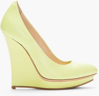 McQ by Alexander McQueen Leather Slim Wedge Pumps - Lyst
