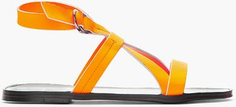 Pierre Hardy Neon Orange Leather Eh60 Gladiator Sandals - Lyst