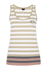 Armani Jeans Striped Vest - Lyst