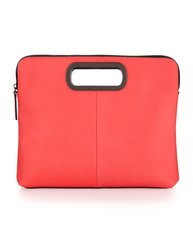 5effd2268c12 Lyst Bcbgmaxazria Neon Cutout Clutch Bag In Pink