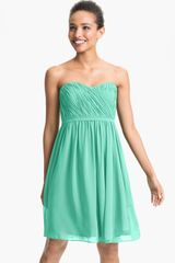 Donna Morgan Lindsey Pleated Sweetheart Neckline Chiffon Dress - Lyst