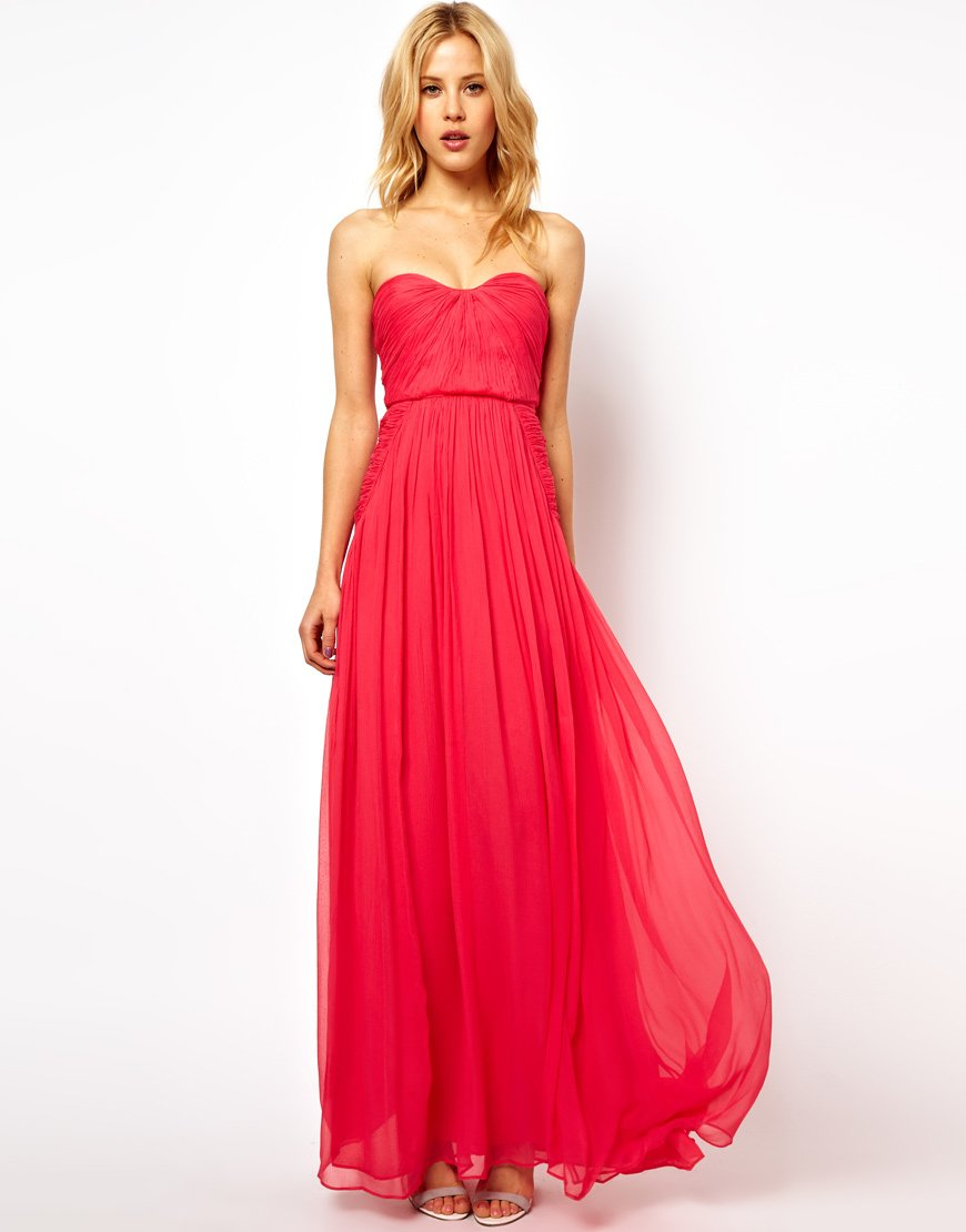 Long Strapless Summer Dress