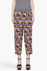 Marni Printed Silk Trousers - Lyst
