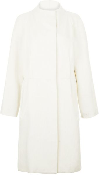 Nicole Farhi Structured Coat - Lyst