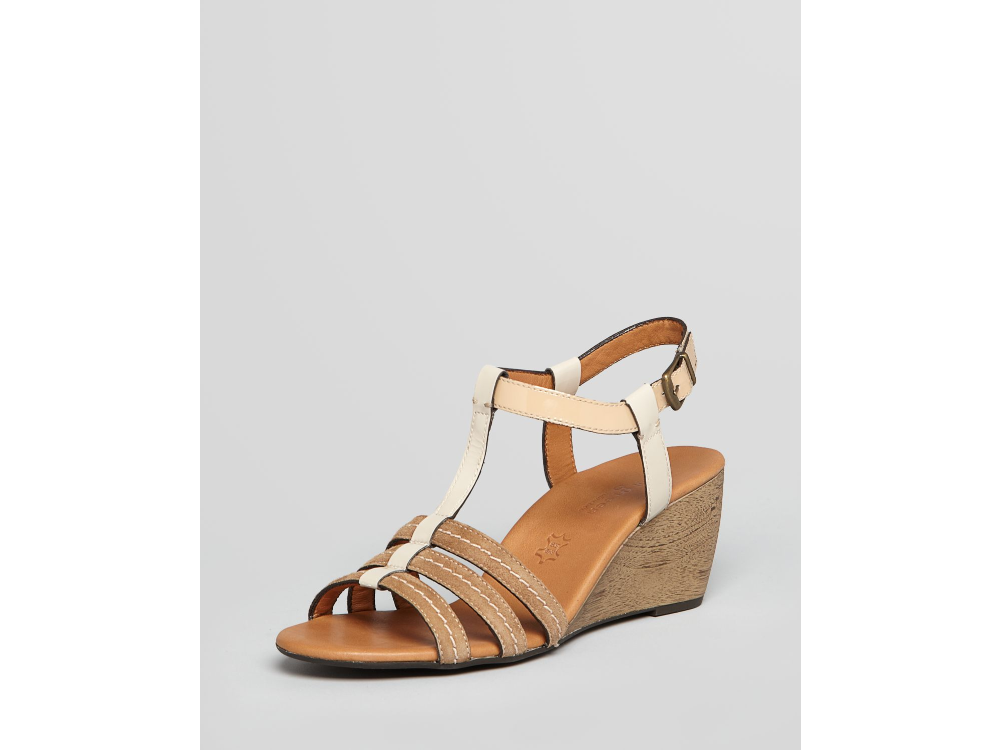 paul green wedges in brown havanna lyst