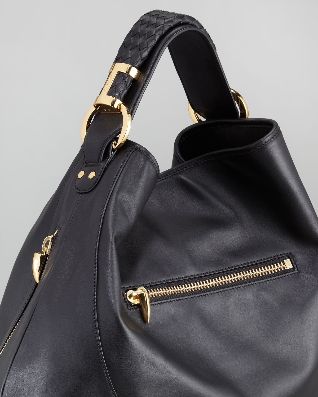 Lyst Rachel Zoe Joni Leather Hobo Bag In Black
