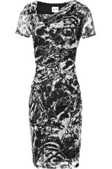 Reiss Romisa Draped Lace Bodycon Dress - Lyst