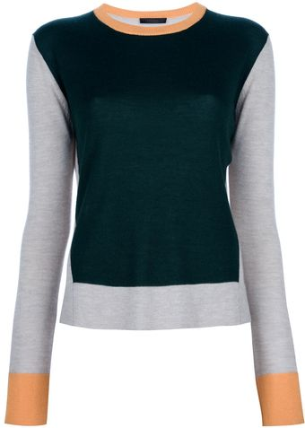 The Row Tricolour Jersey Sweater - Lyst