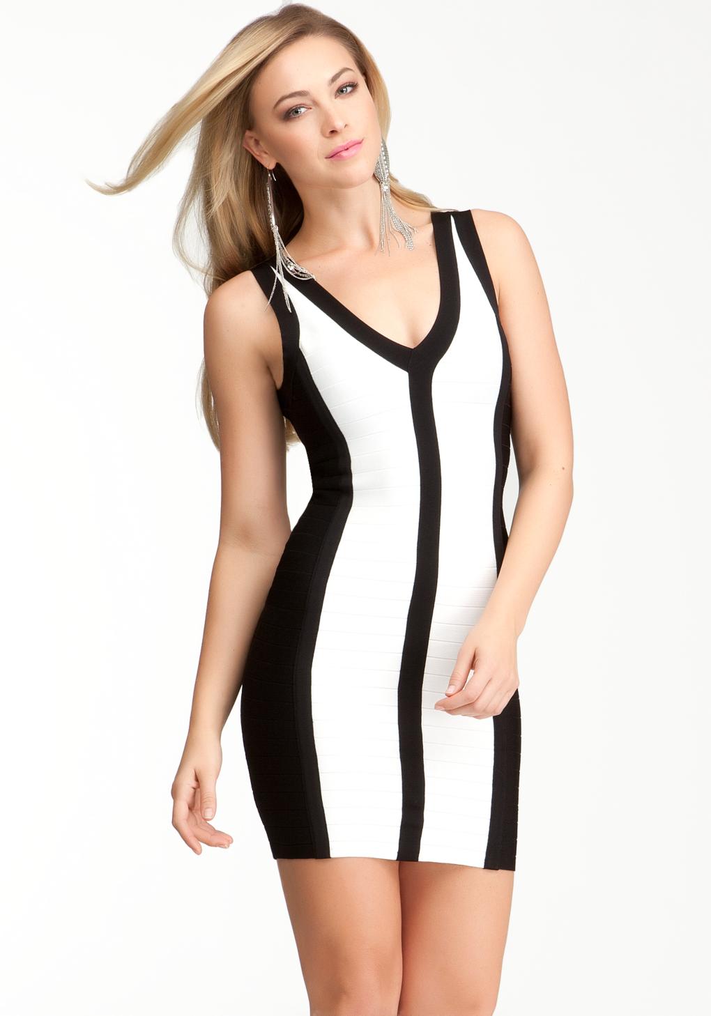 980c5873db bebe white and black dress – Little Black Dress   Black Lace ...