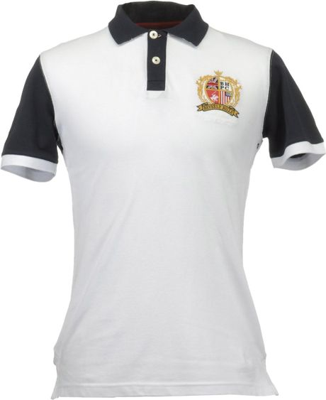 Beverly Hills Polo Club Polo Shirts In White For Men Lyst