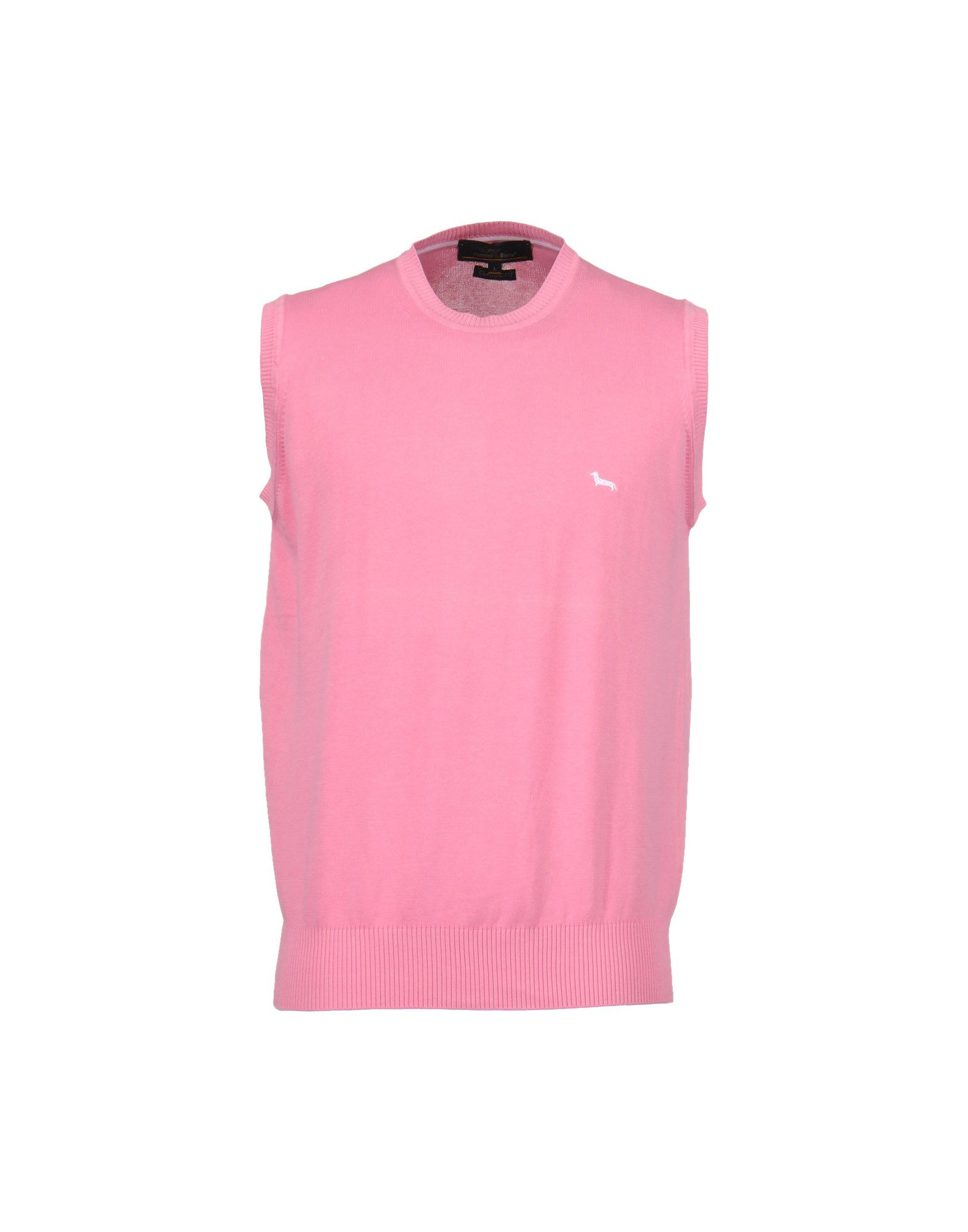 Mens Pink Polo Sweater Vest - Sweater Grey