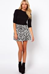 ASOS Collection Skater Skirt in Baroque Print - Lyst