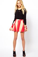 ASOS Collection Asos Skater Skirt in Wide Stripe - Lyst